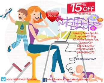 Mothers day massage promo